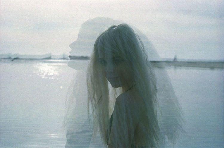 The Moon and the Virgin Organsinsleep Laurenluck Neonlolita Film 35mm Beach Double Exposure Magic Women Mothernature Colors Supernatural Goddess Dark Gypsy Nature Aura