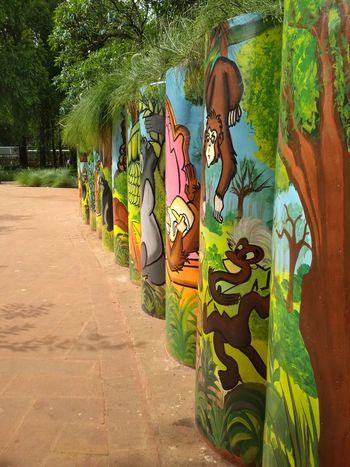 Jungle Book Park Garden The Jungle Book Man - Made Spaces EyeEmNewHere Tree Graffiti Art Spray Paint Street Art Powder Paint ArtWork Art And Craft Aerosol Can Sculpture Human Representation
