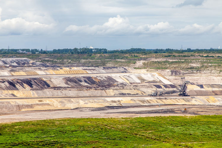 Bergbau Day Excavator Garzweiler Industrial Mining Nature Opencast Mining Outdoors Tagebau