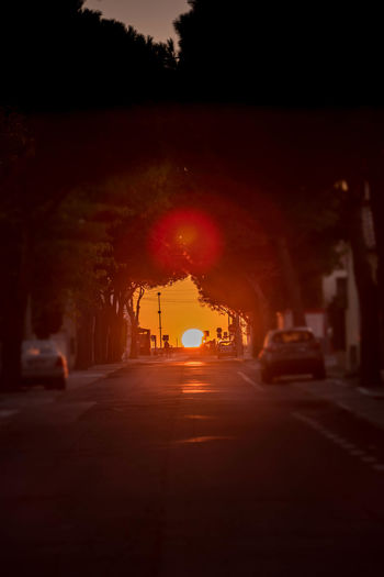 City Dawn Dawn Of A New Day Fitougraphie Illuminated Laurent Vankilsdonk Night No People Outdoors Road Sky Street Sunset Transportation