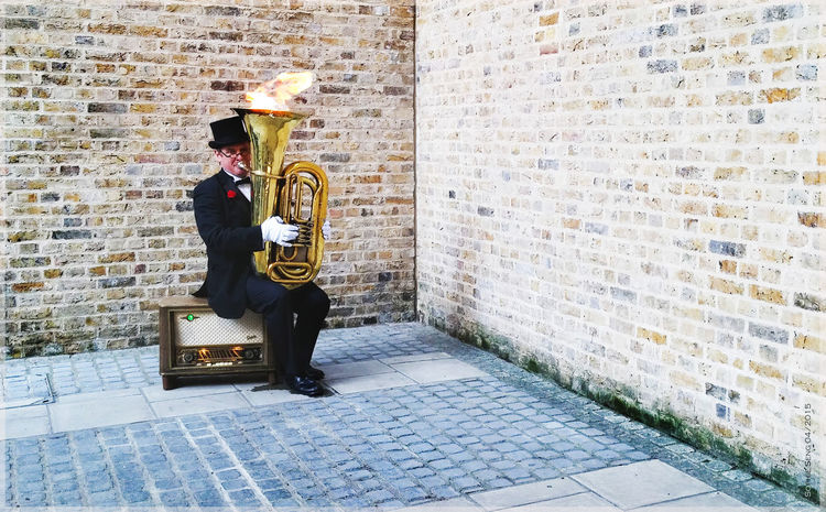London Flaming Swing Musician Music Live Music Swing Tuba Fire Fire ! Streetphotography Street Life London Londonlife Londonstreets People People Photography London Lifestyle