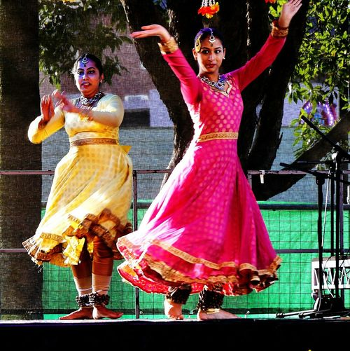 Kathak Dancing Beautiful People Cultures Women Multiculturalism Festivals Outdoors People Parramasala Women Around The World Stage - Performance Space