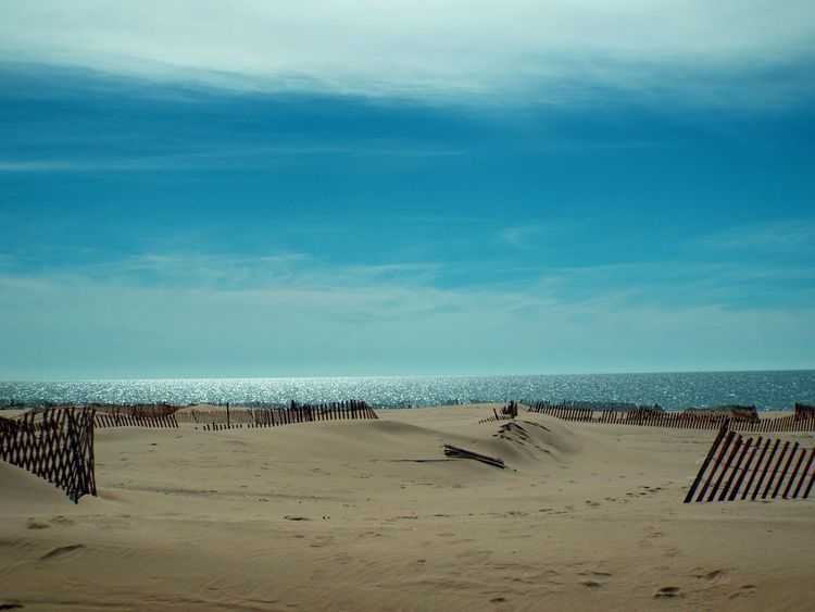 Lake Water Sandbeaches Beach Sand Fences Sunshine Tgif Simple Photography Simply Beautiful Blue Water Check This Out This Week On Eyeem Nature March Showcase Simple Things In Life Blue Sky Sandbeach Lake Michigan Learn And Shoot: Balancing Elements Landscapes With WhiteWall