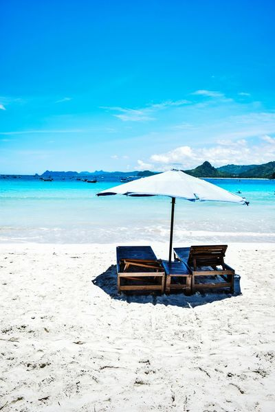 Beach Sea Sand Water Sunny Blue Tranquility Summer Horizon Over Water Nature Idyllic Tranquil Scene Scenics Sky Relaxation Landscape Day Beauty In Nature Travel Destinations No People EyeEmNewHere The Week On EyeEm Beachlife at Selong Belanak, Lombok