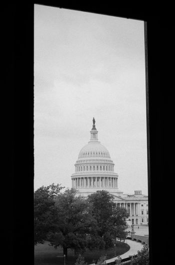 I made this image on 35mm film while visiting Washington, DC, USA. I thought something historical should be captured on a historical format, film. This view of the Capital building is from inside the Library of Congress. 35mm 35mm Film Architecture Black And White Black And White Collection  Black And White Photography Bnw Building Exterior Bw Bw_collection BW_photography City Congress Dome Film Film Photography Government Historic Historical Historical Building Library Of Congress Through The Window Filmisnotdead The Traveler - 2018 EyeEm Awards My Best Travel Photo