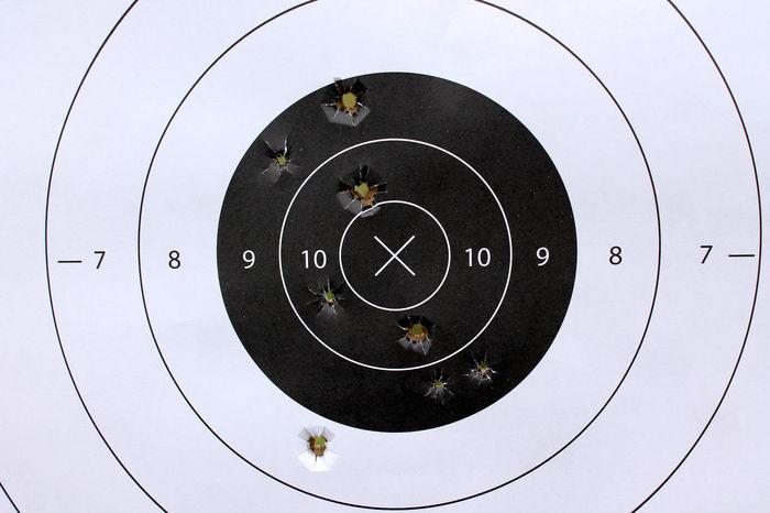 Bullet Center Diana Target Tiro Al Blanco