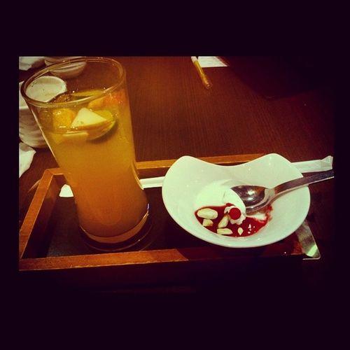 Allegrachi 0709 當有人請客的時候 請問減肥可以當成食物吃嗎 品田牧場 水果茶 野莓奶酪 請客 FOOD dessert
