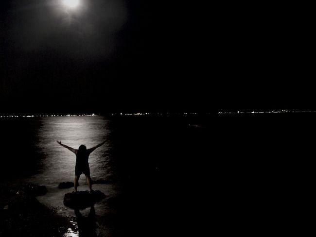 Night Moon Taking Photos Enjoying Life