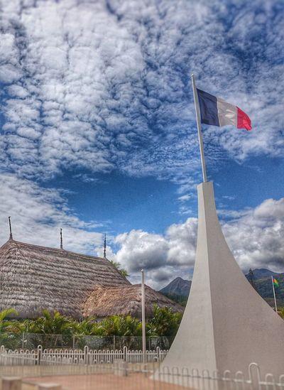 Mont D'or Nouvelle Calédonie Exterior FocusOn French Island French Flag Caledonian Flag Melanesian Hut Melanesia EyeEm Eyeemphoto