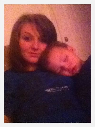 My baby one day he might outgrow my lap but tht day is not today ❤