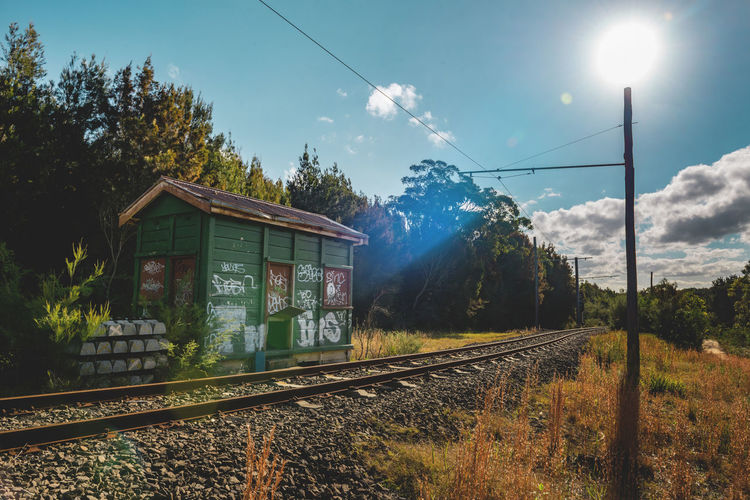 Australian Landscapes Dreaming Exploring Longing Nature Sunlight Abandoned Australian Landscapes Destination Hut Landscape Old Railway Outdoors Relaxing Moments Royal National Park Train Station Train Track Wood Shed