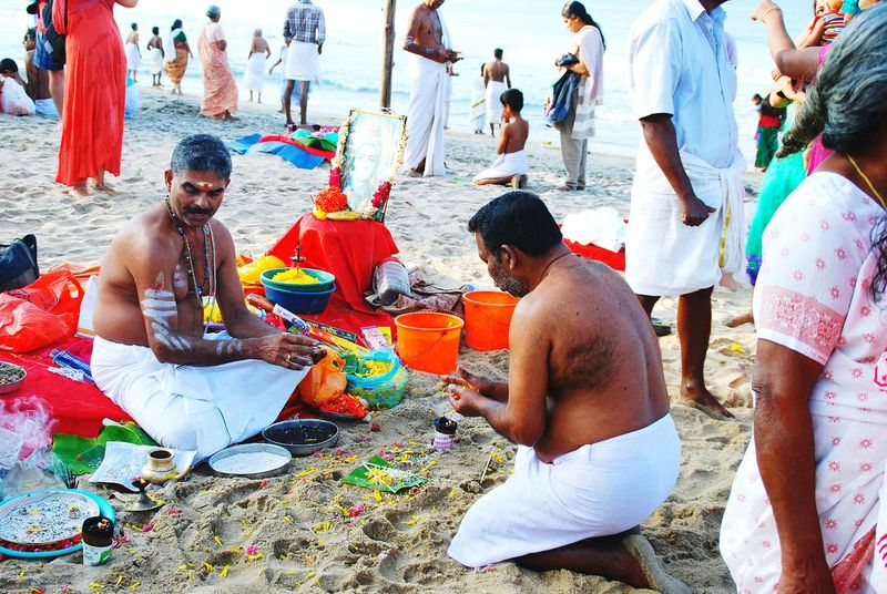 Altars On The Beach Life Is A Beach Strand Kerala India Celebration Religion Hinduism The Photojournalist - 2016 EyeEm Awards