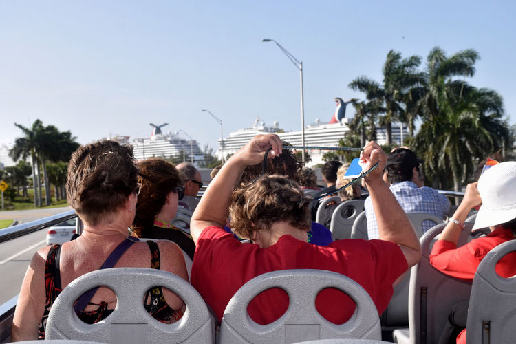The Tourists Tourist Day Enjoyment Leisure Activity Open Air Bus People Real People Sight Seeing Tour Tourism Travel,