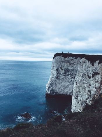 Studland cliffs Silhuette Silhouettes Blueandwhite Blue March Seascape Seascape Photography Water Cloud - Sky Sky Sea Nature Scenics - Nature Tranquil Scene Beauty In Nature Outdoors Power In Nature Solid Breaking Travel Rock Horizon Day Motion Land Tranquility