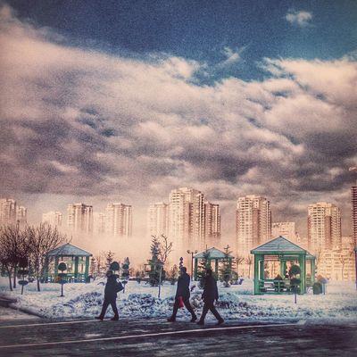 Winter Snow Trt Ankara Turkey