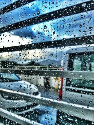 Not great views, but... It's Friday! Raindrops Window Rain Dawn