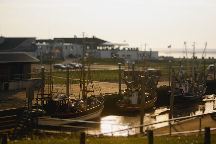 Absence Building Exterior Built Structure Day Ebb And Flow Empty Fishing Focus On Foreground Moored Nautical Vessel No People North Sea Outdoors Railing Sunset Tilt Shift Tiltshift Transportation Water