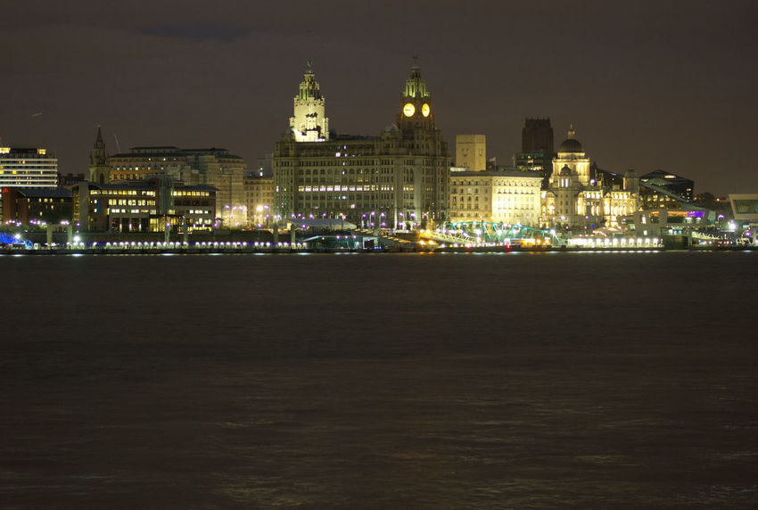 Architecture Illuminated Building Exterior Built Structure Night City Waterfront Urban Skyline Skyscraper Sky Outdoors Spire  City Life Financial District  Tall Tall - High Residential District No People Office Building Cityscape Liverpool City Liverpool Cityscape Liver Building The Liver Building Cities At Night
