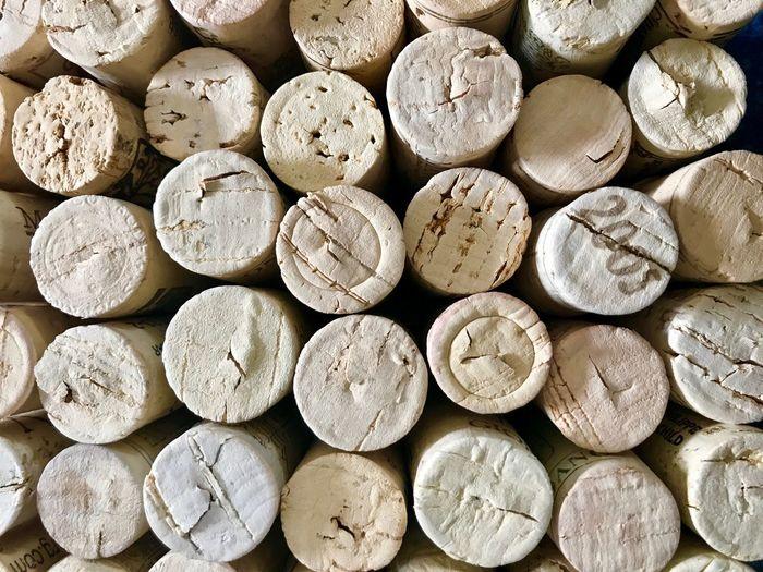 Full frame shot of wine corks