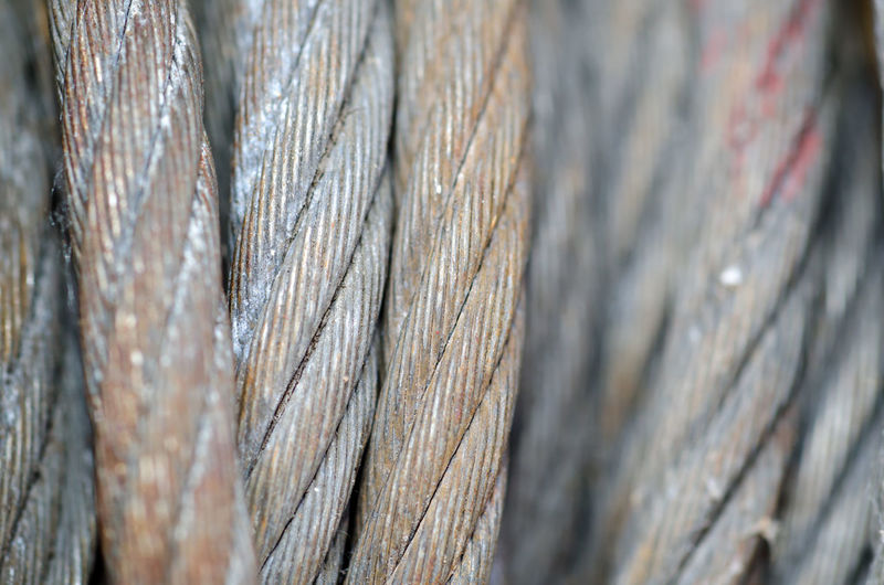 Close-Up Of Rusty Steel Cable