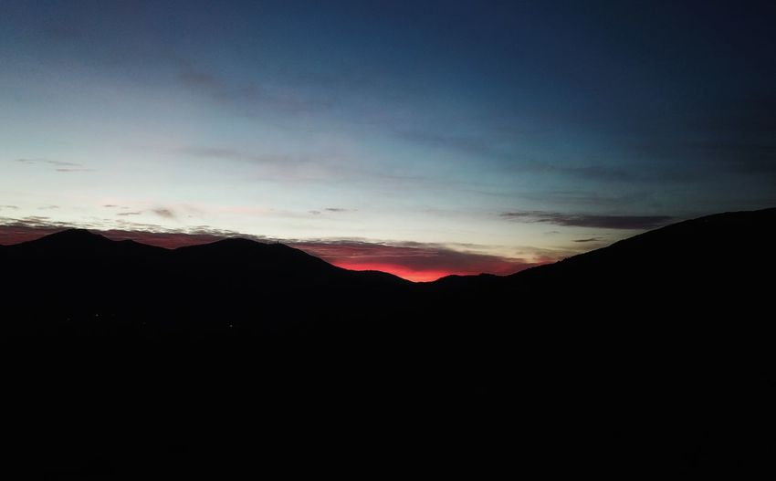 Molise Mountain Silhouette Nature Scenics Beauty In Nature Sunset Tranquil Scene Tranquility No People