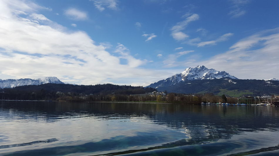 Vierwaldstättersee and Pilatus Pilatus Vierwaldstättersee Lake Switzerland Switzerlandpictures Mountain View EyeEmNewHere Lucerne Lucerne, Switzerland Mountain Lake Water Reflection Snow No People Cloud - Sky Sky Landscape Scenics Outdoors Beauty In Nature Day Nature