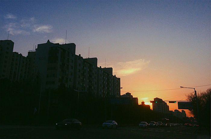 Sunset Sunset City Cloud - Sky Outdoors Sky Evening Korea Ansan