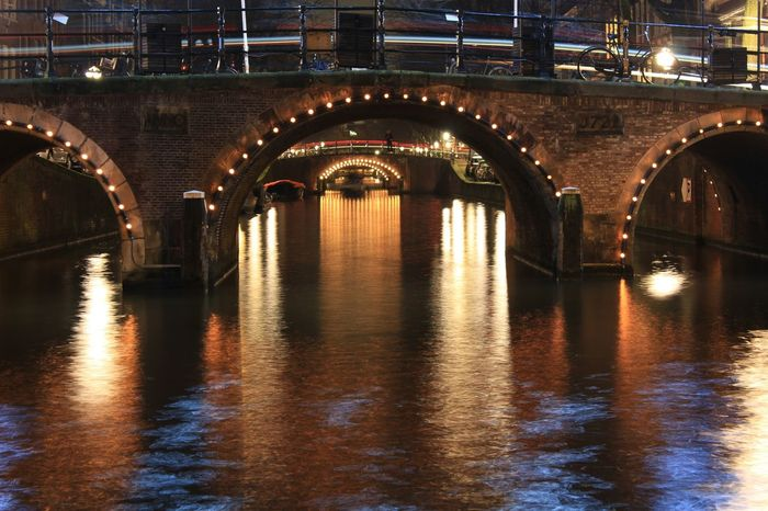 Seeing The Sights Nightphotography Night Lights Bridge Canals Amsterdamcity Amsterdamse Grachten Speed Depth
