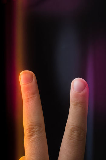 Close-up of human hand gesturing