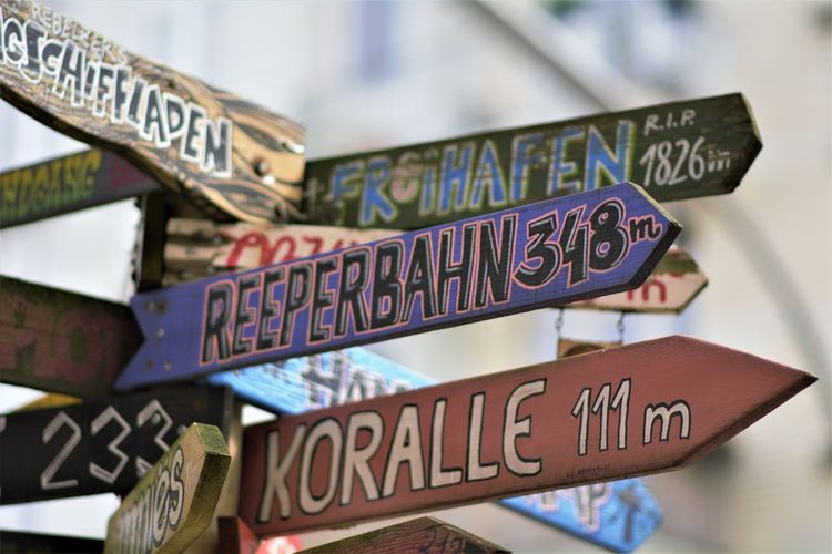 Amburgo Art is Everywhere City Reperbahn Sign Art Germany Koralle Steet Street Sign