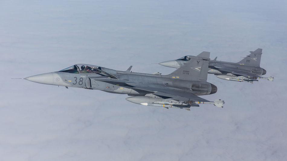 Aerial Air Air Force Aircraft Airspace Airtoair Aviation Baltic Estonia Fighter Flying Gripen Hungary Lithuania Military Mission NATO Policing Protecting