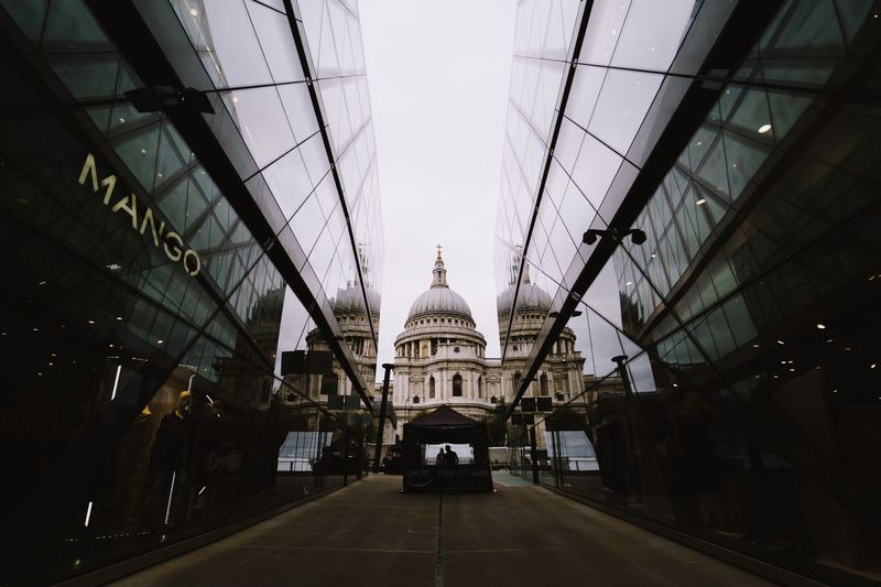 Built Structure Architecture Building Exterior The Way Forward Building Direction Diminishing Perspective Ceiling City Lighting Equipment No People Hanging Sky Day Religion Belief Place Of Worship Travel Illuminated Outdoors