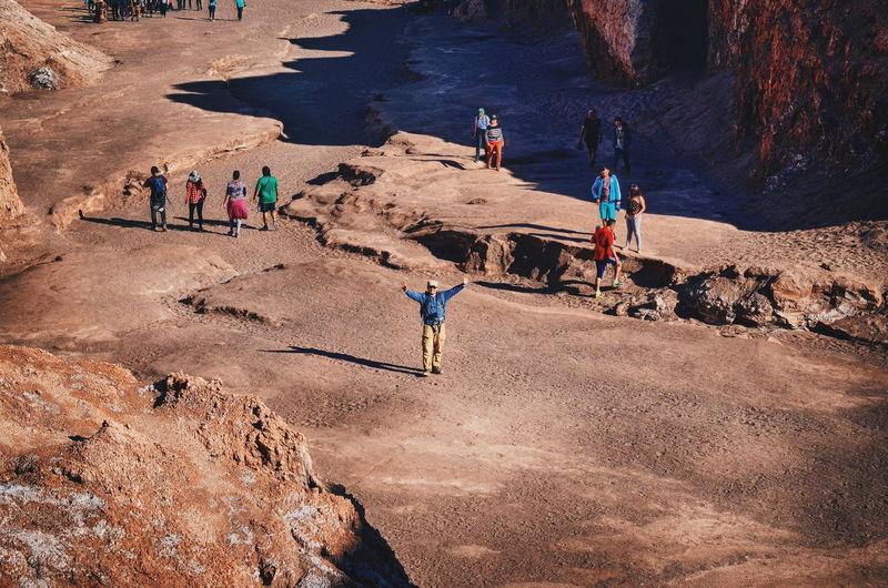 People on rock
