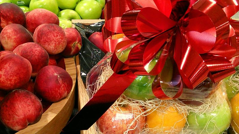 Exploring Style Fresh fruit baskets ~ Traditional Holiday Gifts! Gift Basket Gift Of Nature Gift Ideas Red Fruit Food No People Box - Container Freshness Large Group Of Objects Indoors  Healthy Eating Day Apples And Oranges Nectarines Fresh Fruits.. Nature Love