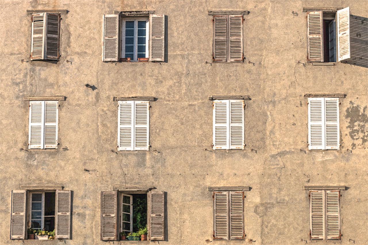 Full frame of windows
