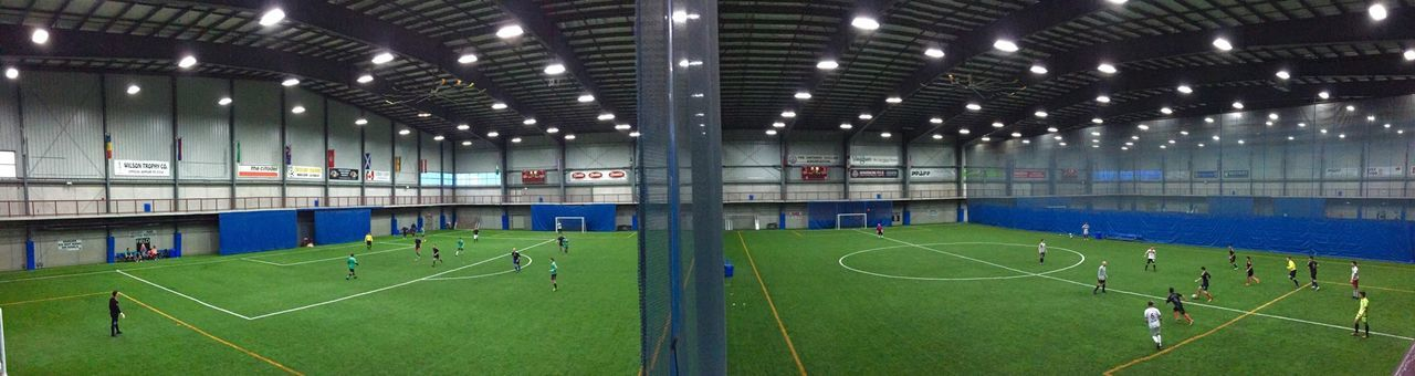 Could only get two fields in the photo but there's a third game going on as well. Soccer Soccer Game Indoor Soccer IPhoneography Panorama Vaughan