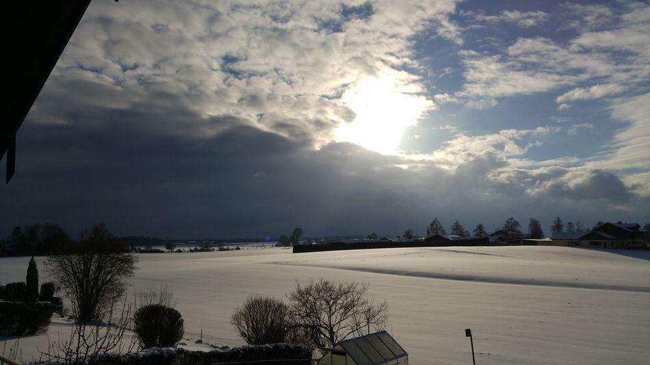 Winter Amazing Sky Chiemgau Cold Days Cold Temperature Snow Sun White Landscape