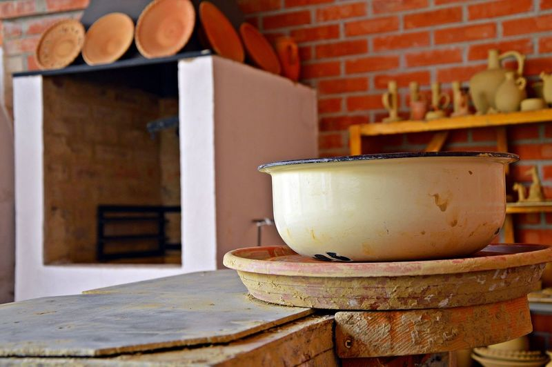 Bowl On Table In Kitchen
