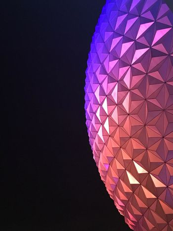 Night Disney Big Ball Colors epcot Illuminated Low Angle View First Eyeem Photo