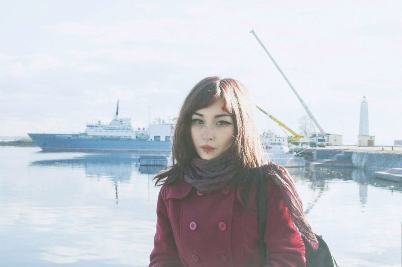 Girl City Beautiful Fashion Retro Vintage Russia Asiangirl Water Bay Relaxing Oldcity корабли причал Portrait Face That's Me