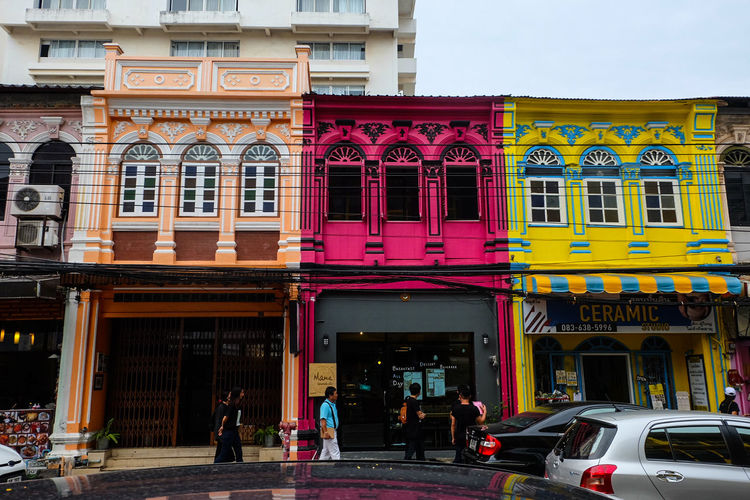 Box town is Phuket old town @ Phuket thailand Architecture Building Exterior Outdoors Façade City Travel Destinations Day People Adult Adults Only Architecture_collection Thailand🇹🇭 History Chino-Protugese Vacations City Color Portrait Point Of View Houses Phuket Adult Landscape Travel Tourism Brick