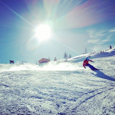 Sunlight Sun Outdoors Day Motion Nature Sport Sky One Person Beauty In Nature Landscape Winter