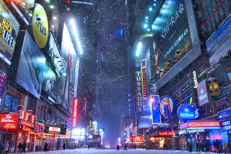 42nd Street 42nd Street, NYC Building Exterior City City Life Illuminated Lifestyles Neon Neon Color Neon Effect Neon Lights Neonlights New York City Night NYC NYC Street Snow Storm Snow ❄ Snowstorm Snowstorm2016 Snowstormjonas Street Winter Winter Wonderland Winterwonderland