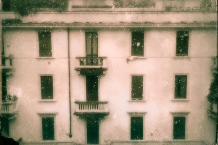 Full frame shot of wet glass window in winter