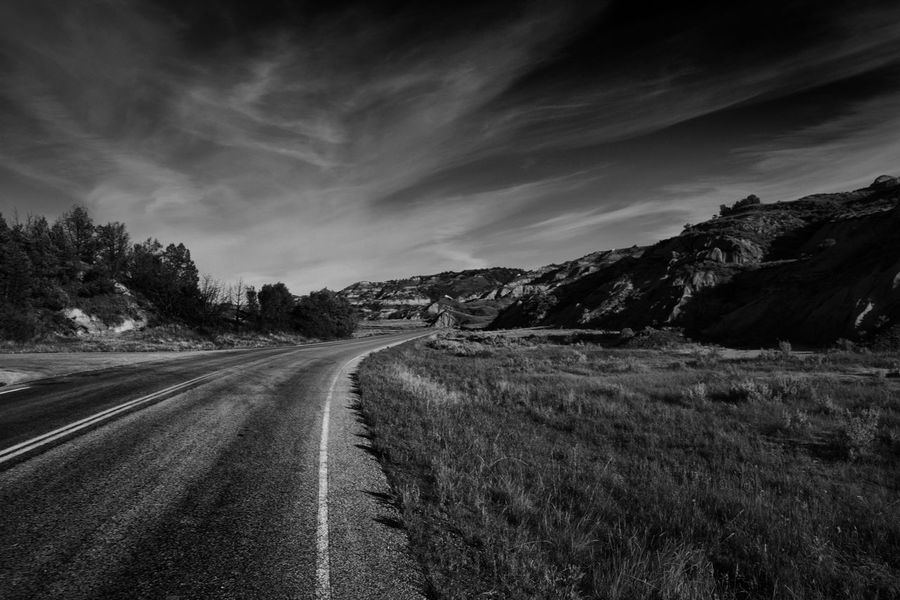 Roads to Nowhere. North Dakota. Nikon D7200. Adventuring Backgrounds Bad Beauty In Nature Day Enjoying Life Hiking Inspiratioa Inspirational Landscape National Nature No People North Dakota Outdoors Road Scenics Sky The Way Forward Theodore Roosevelt National Park Tranquil Scene Tranquility EyeEmNewHere