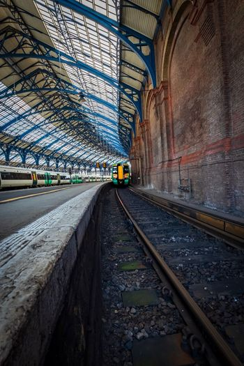 Transportation Architecture Rail Transportation Railroad Track Mode Of Transportation Track The Way Forward Direction Built Structure Travel Public Transportation Diminishing Perspective No People Day Arch Building Exterior Land Vehicle Outdoors Nature Ceiling