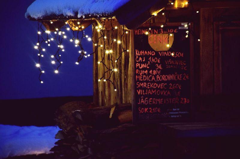 Kranjska Gora Hollidays Lights Valentine's Day  Night