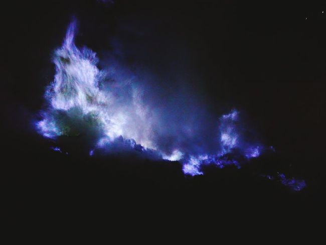 The blue fire Bluefire INDONESIA IjenCrater Nature Outdoors