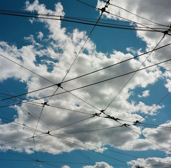 Blue Cable Cloud Cloudy Day Electricity  Low Angle View Nature Outdoors Power Cable Power Line  Power Supply Sky Technology