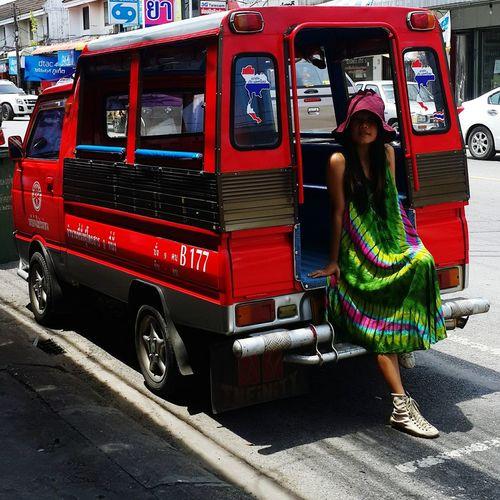 Selfportrait Portrait Picoftheday Smartphonephotography Madeinthailand Streetfashion Bohemian Style Tiedye Dress